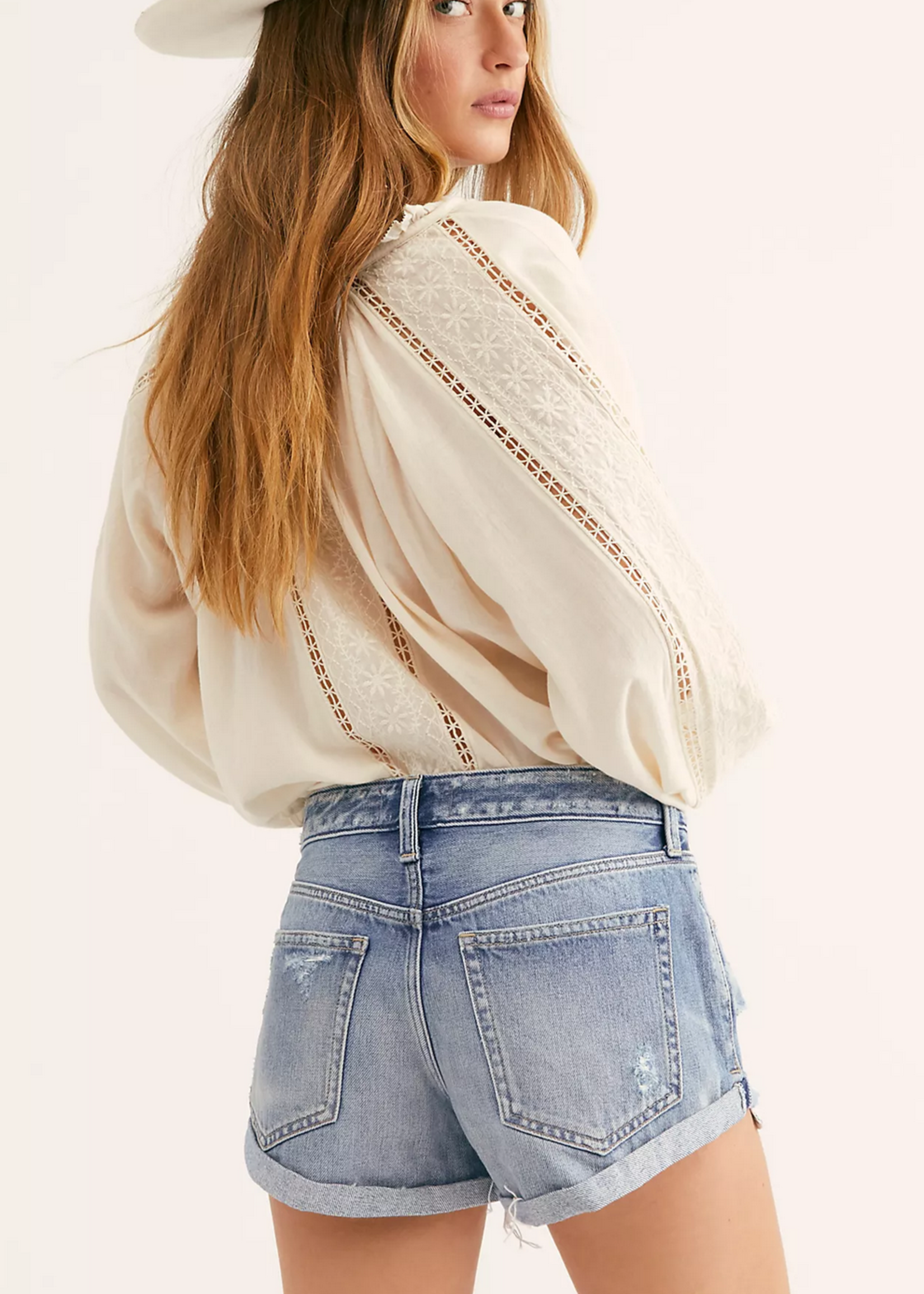 free people free people romeo rolled cut off shorts