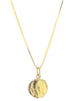 lotus jewelry studio small hermes coin necklace
