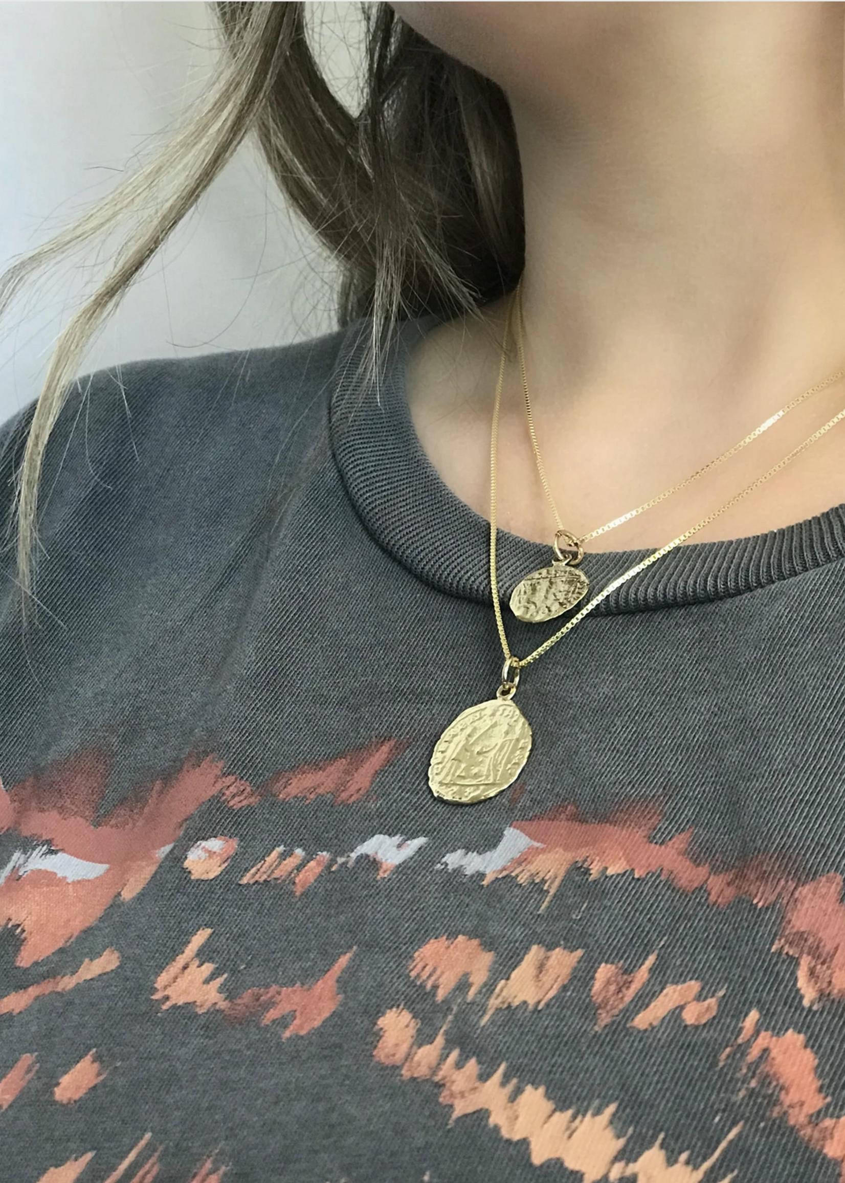 lotus jewelry studio lotus small hermes coin necklace