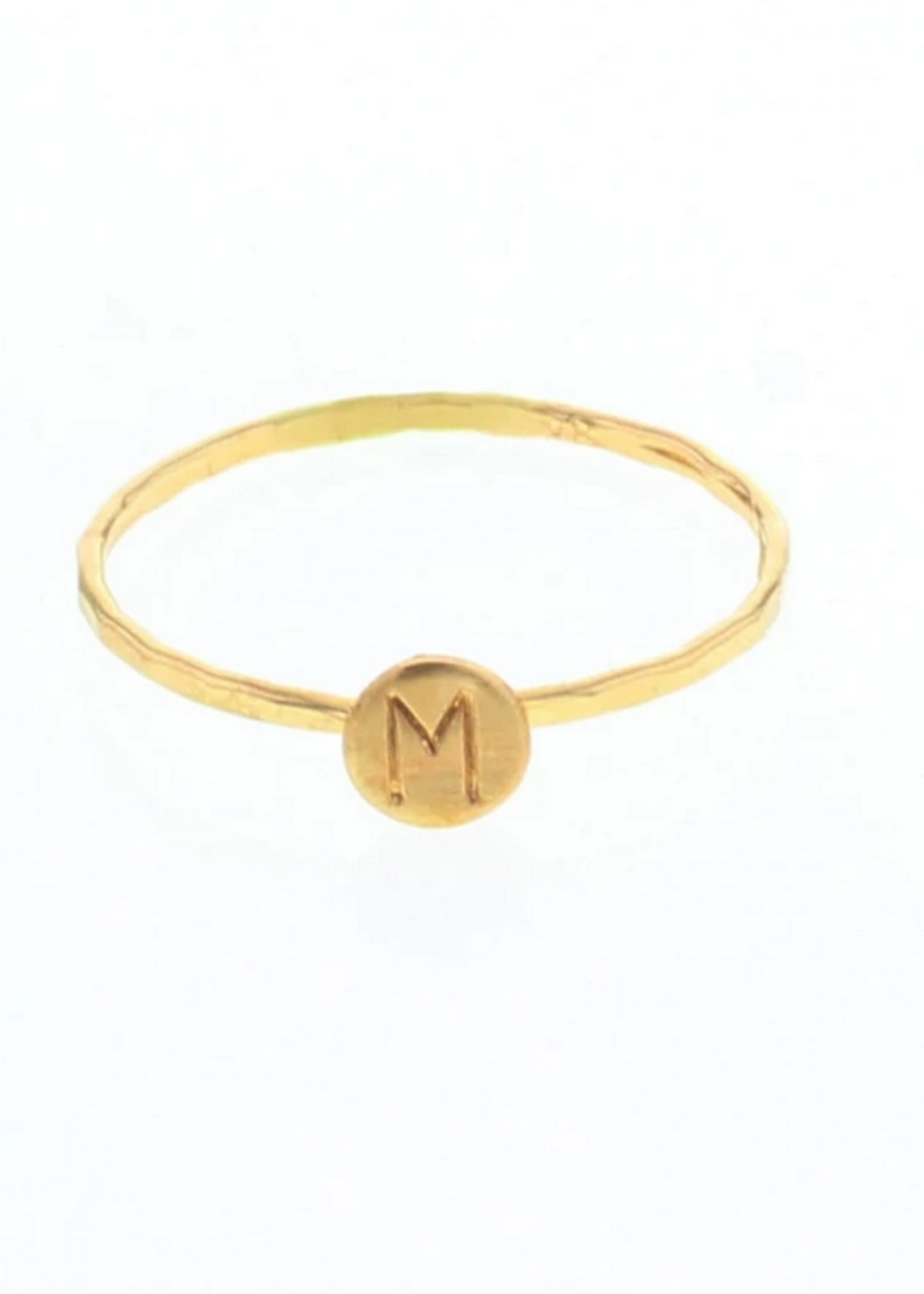 lotus jewelry studio lotus letter stacking ring