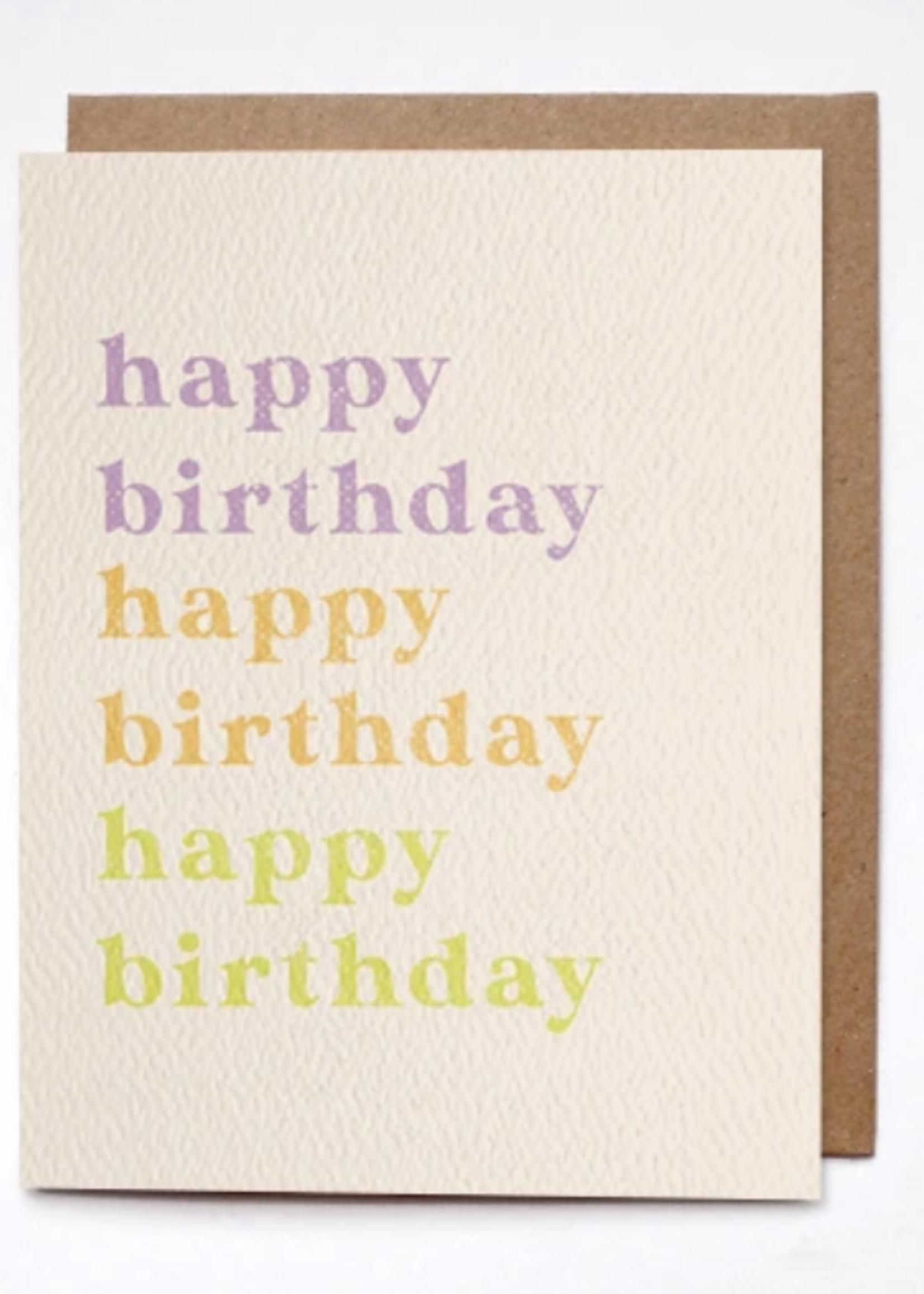 daydream prints happy birthday colorful card