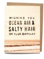 ocean air salty hair card