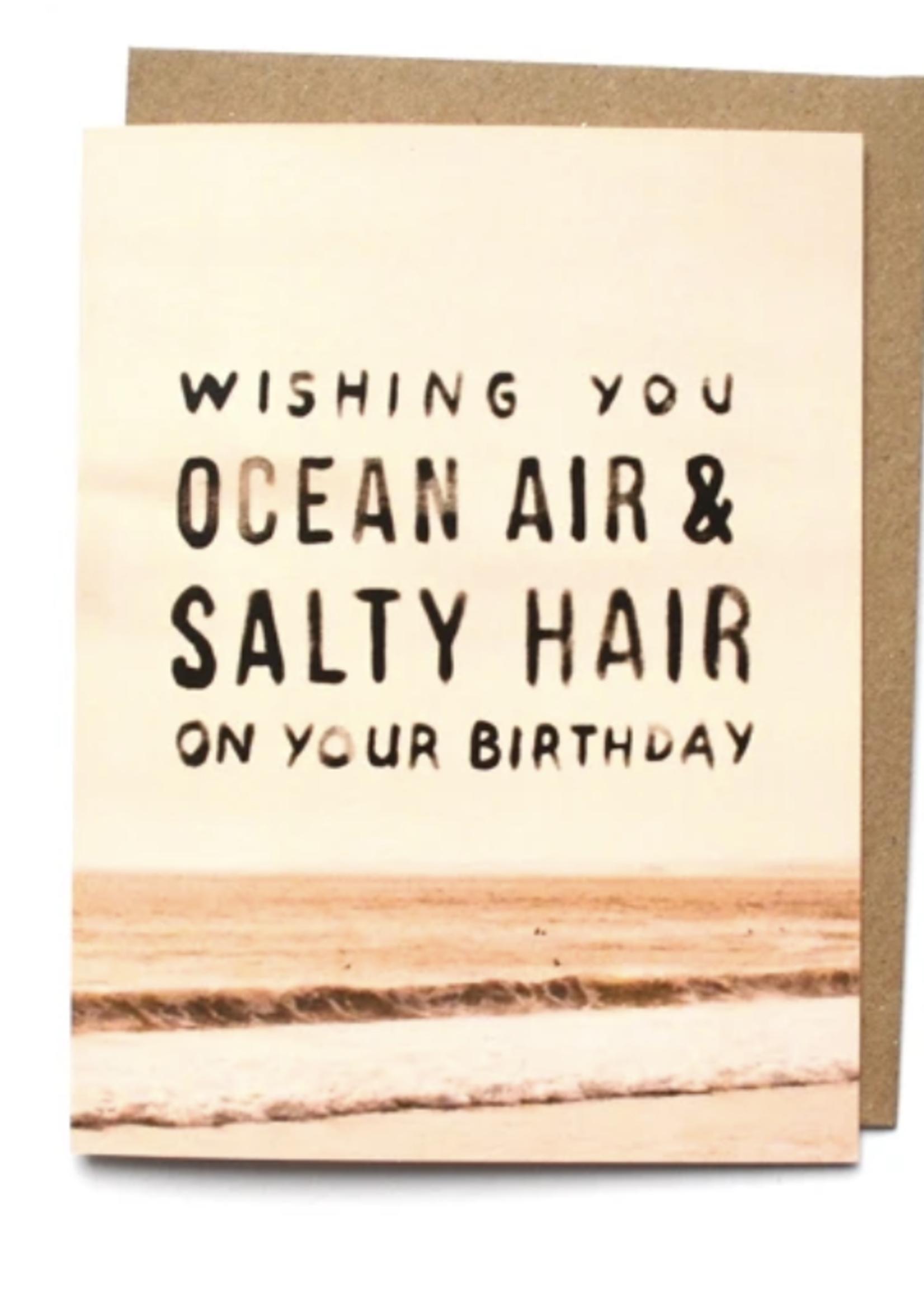 daydream prints ocean air salty hair card