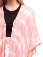 blue or coral tie dye kimono