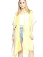 two tone yellow kimono