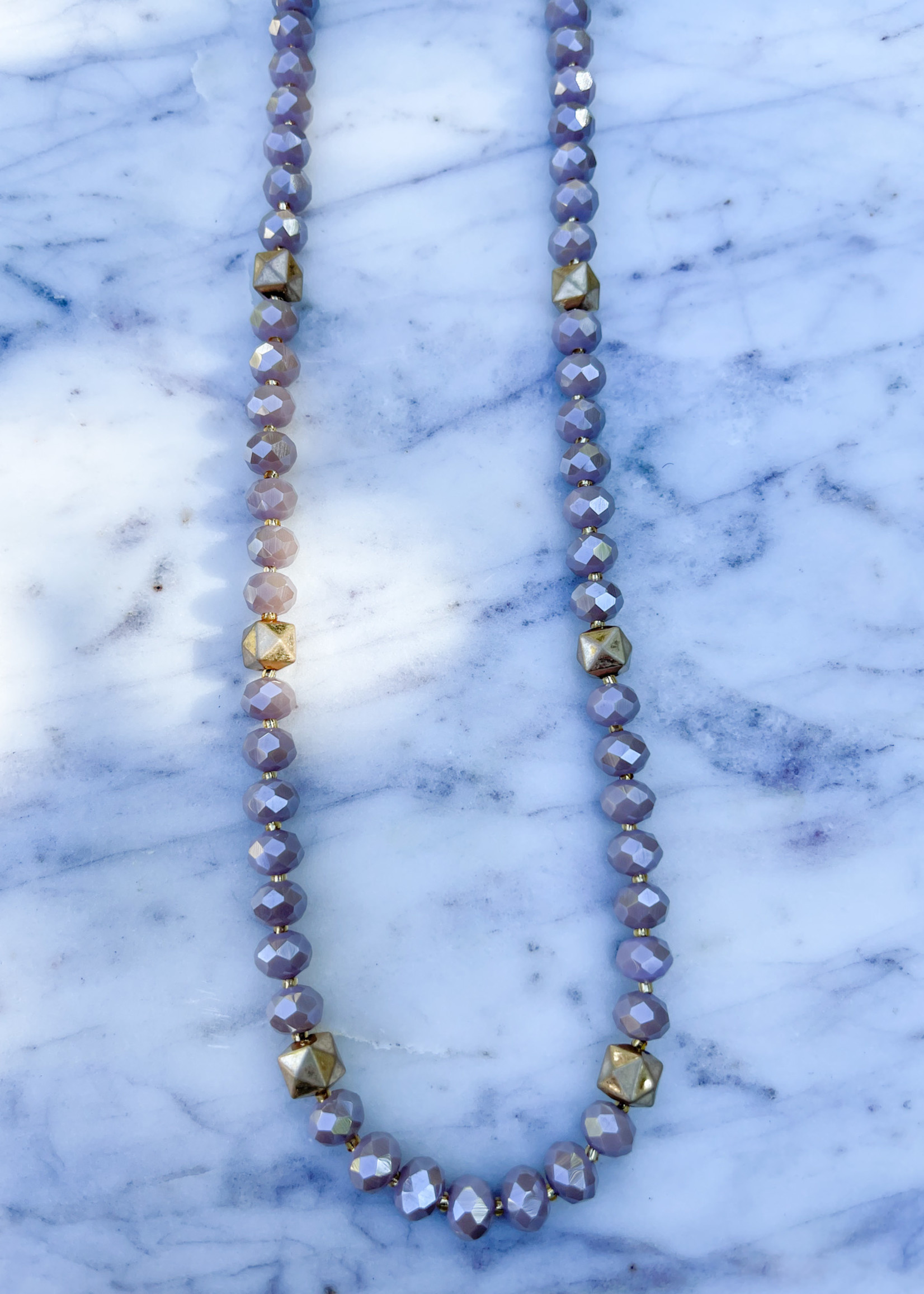 sparkling bead necklace