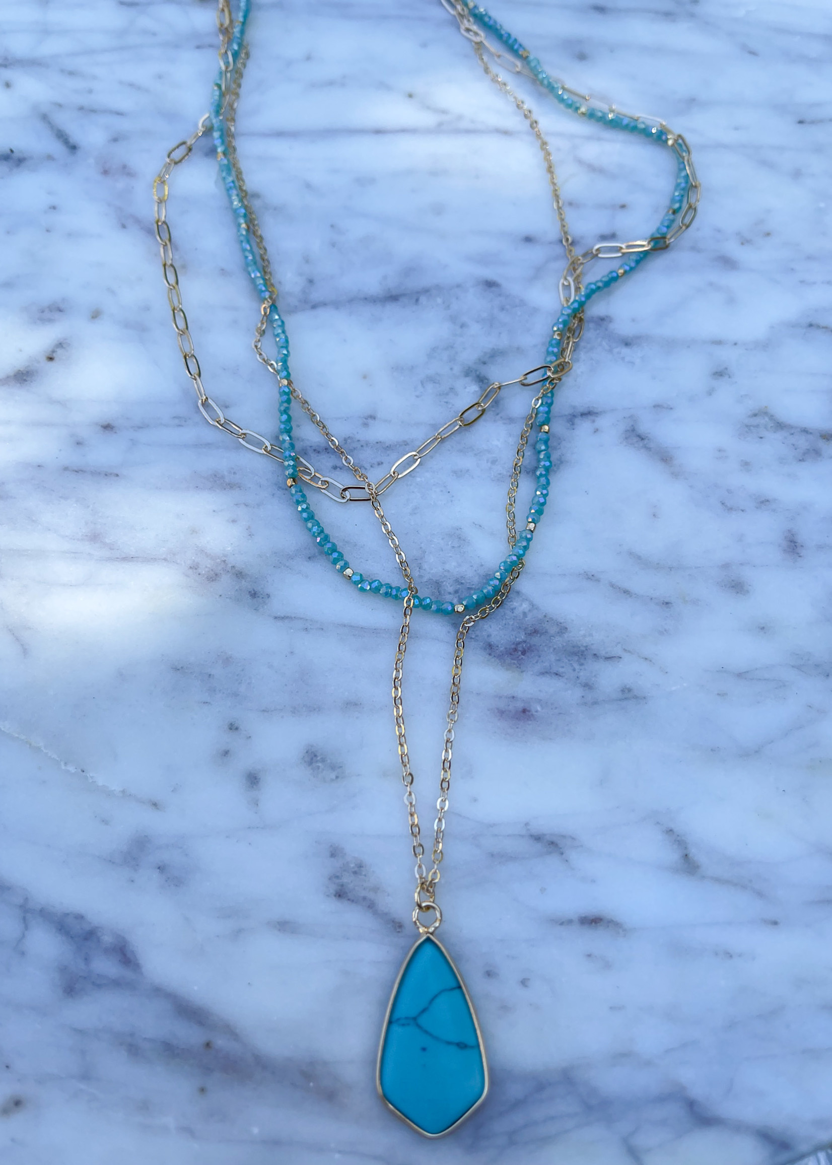 layered charm necklace