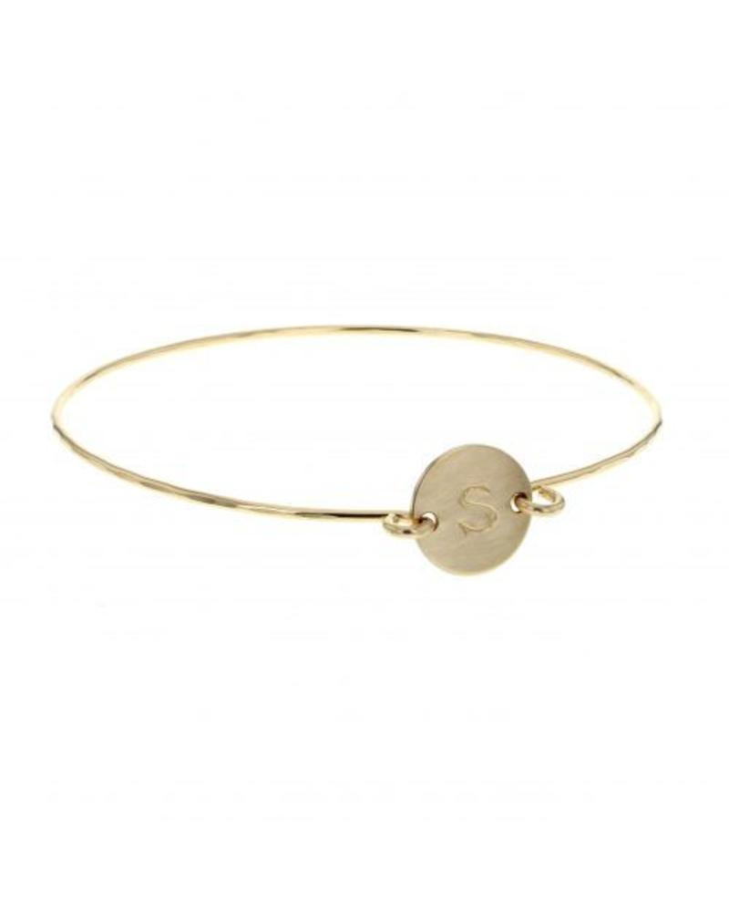 lotus jewelry studio lotus initial token bangle