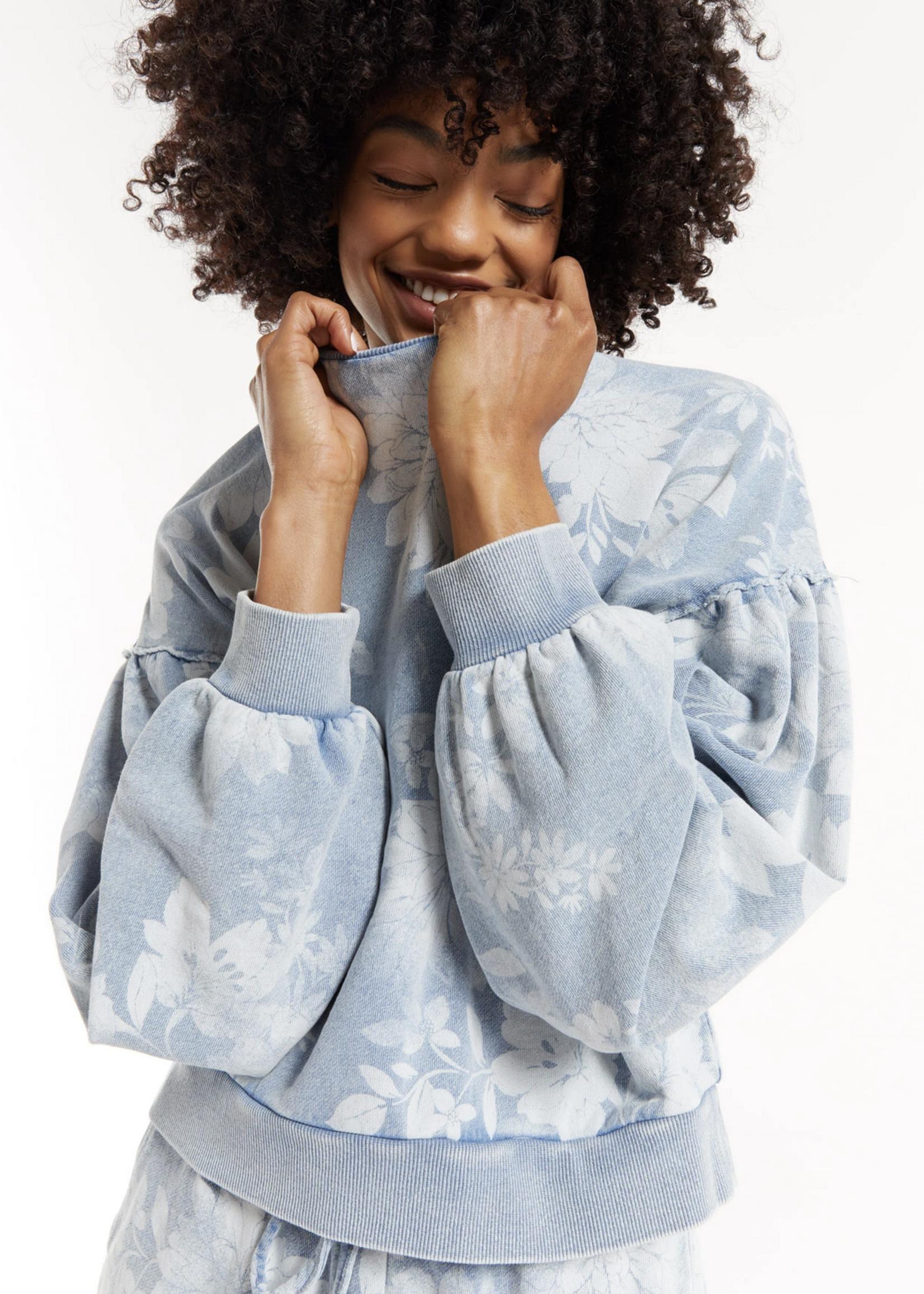 z supply z supply claire floral sweatshirt