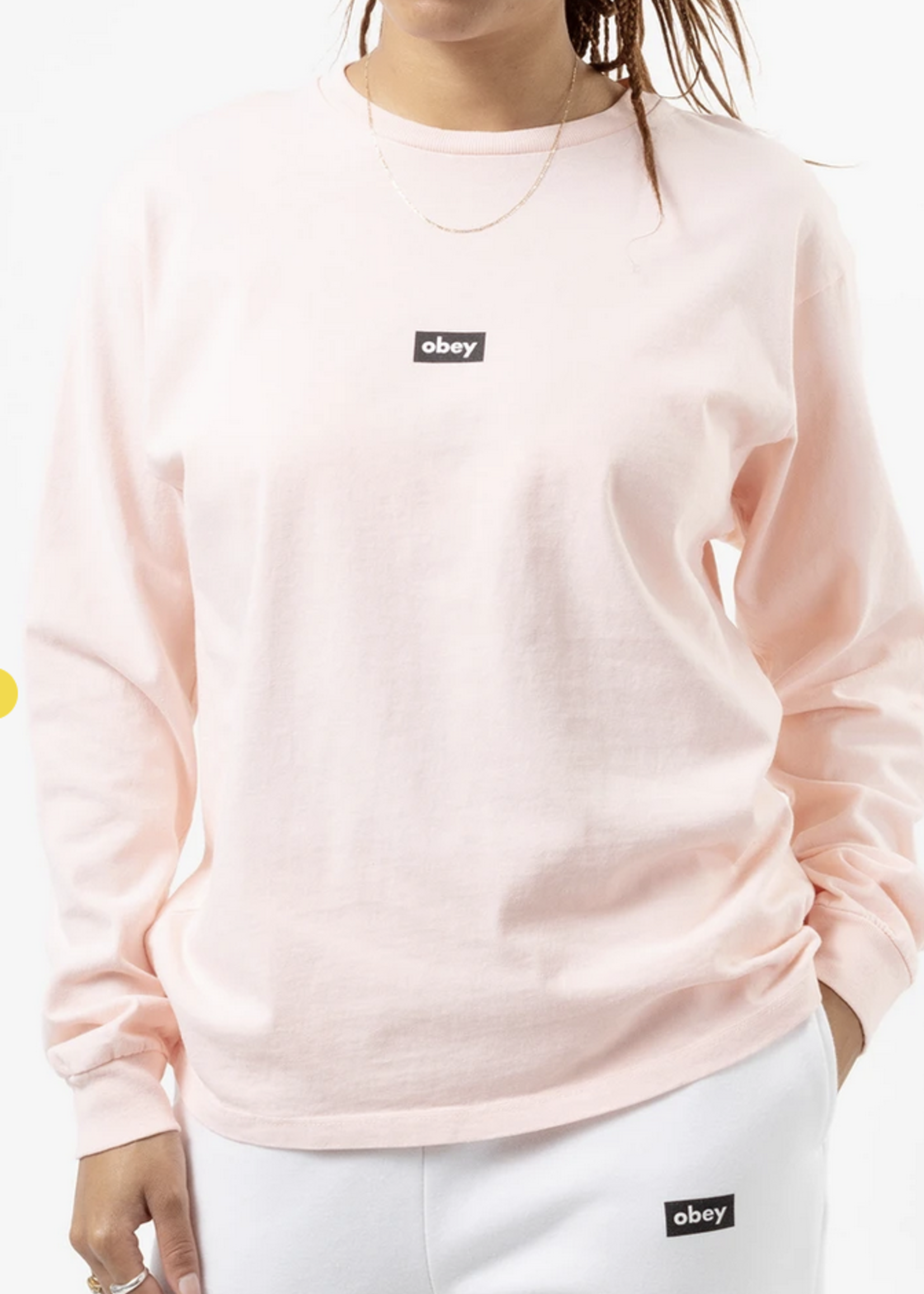 obey obey tag long sleeve top