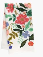 rifle paper co. rifle paper floral vines tea towel
