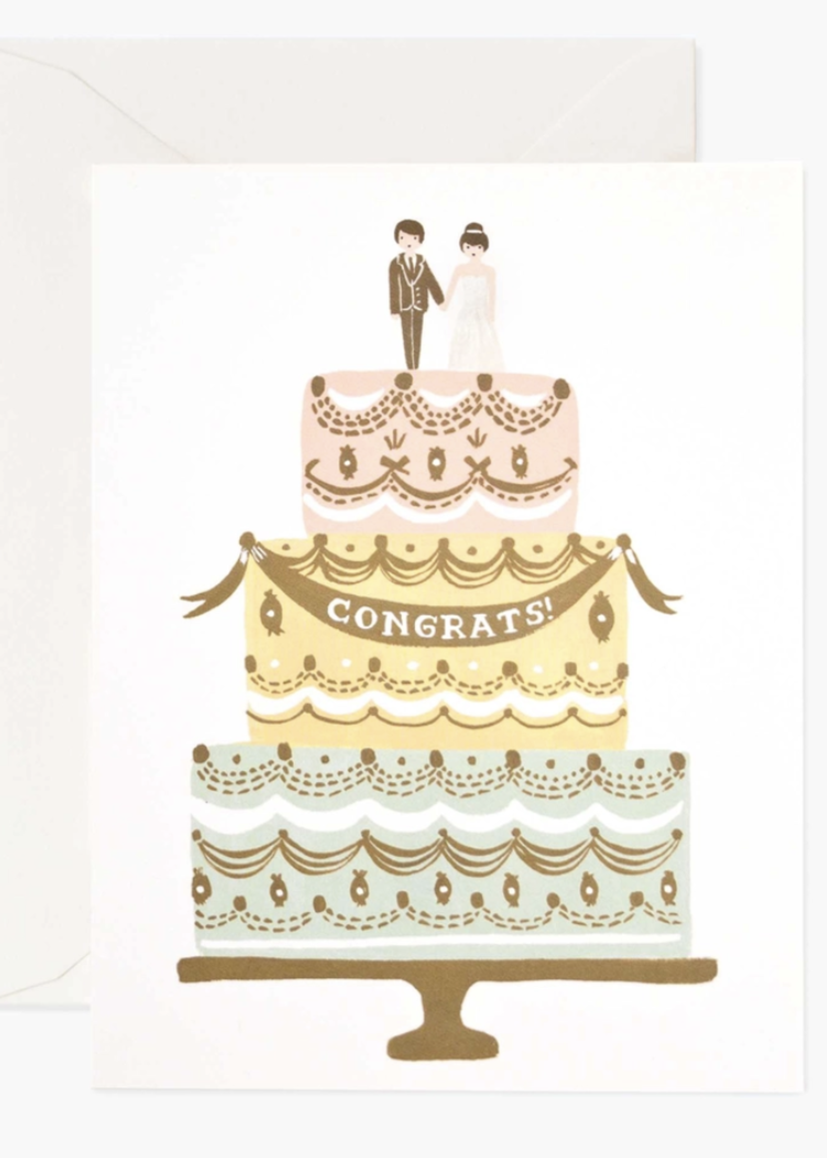 rifle paper co. rifle paper congrats wedding cake card