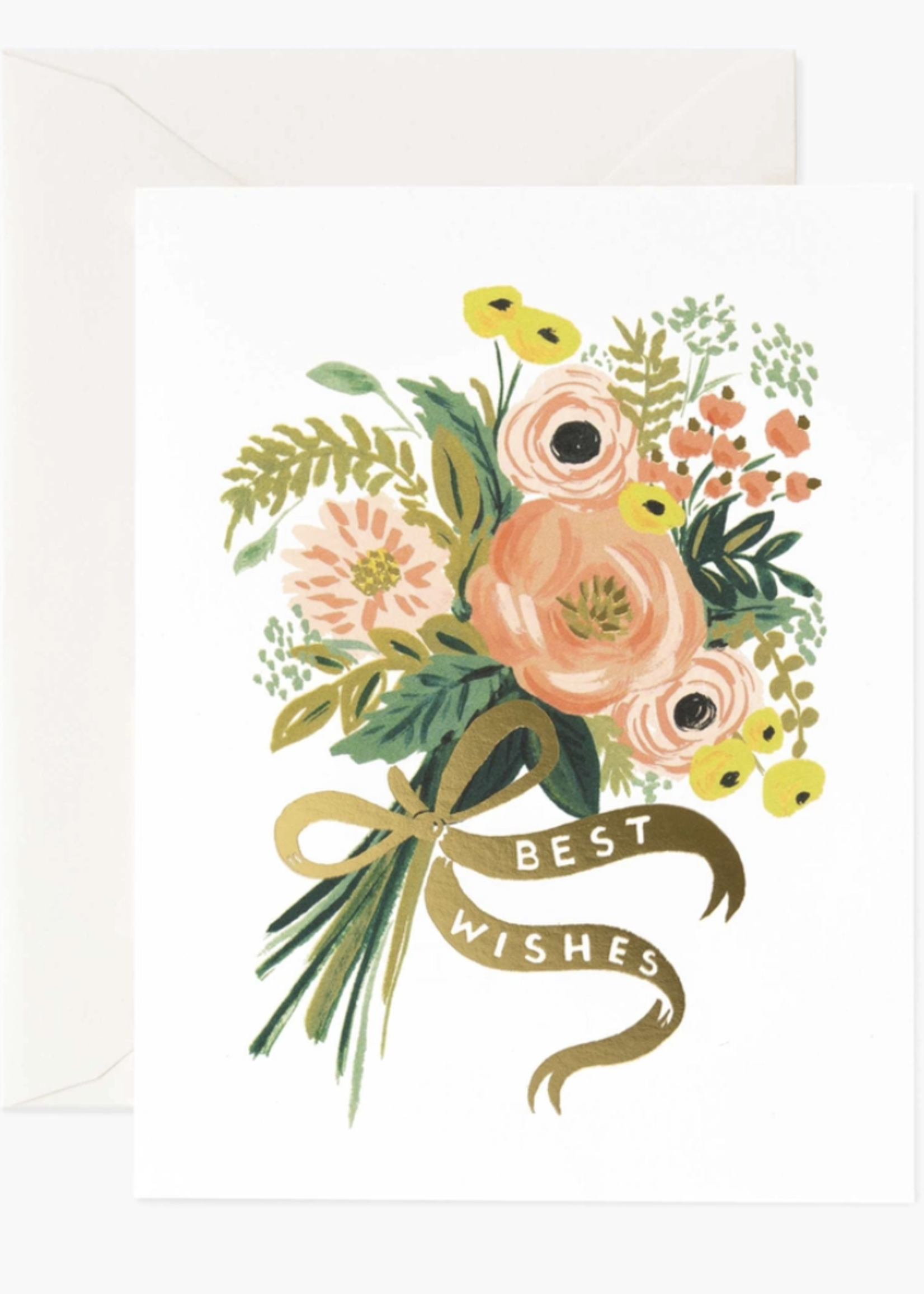 rifle paper co. rifle paper best wishes bouquet card