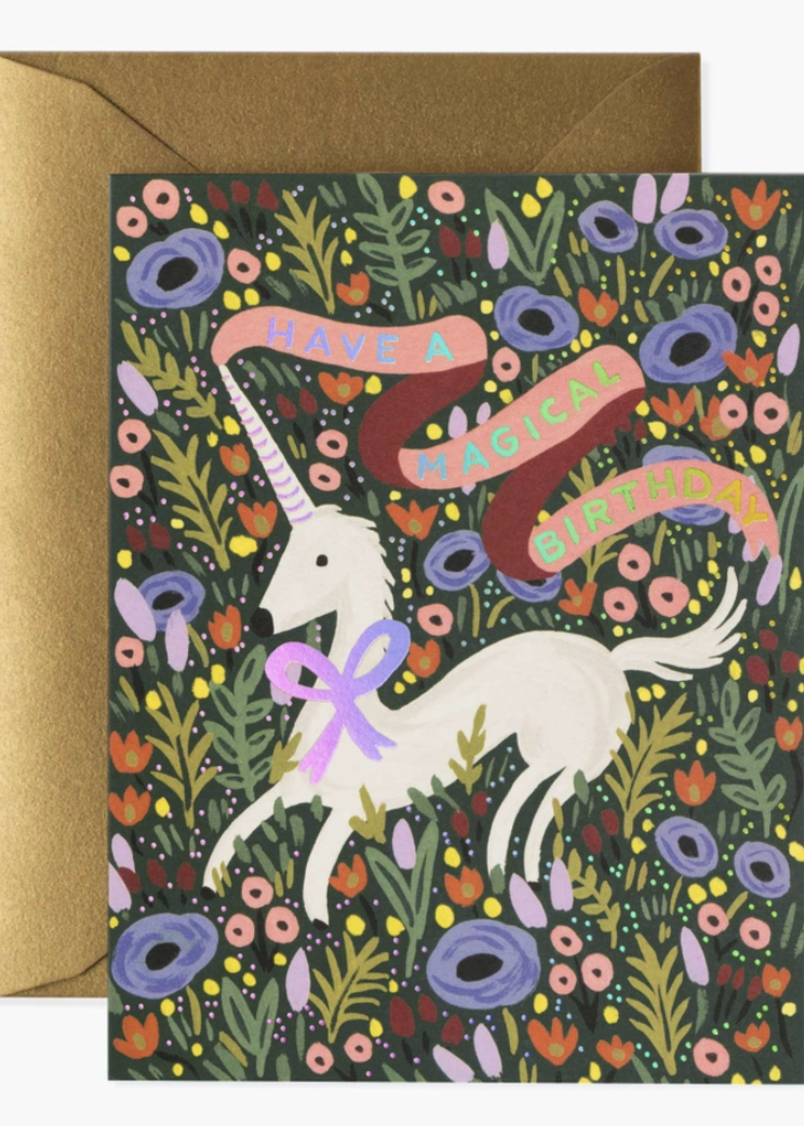rifle paper co. rifle paper magical birthday card