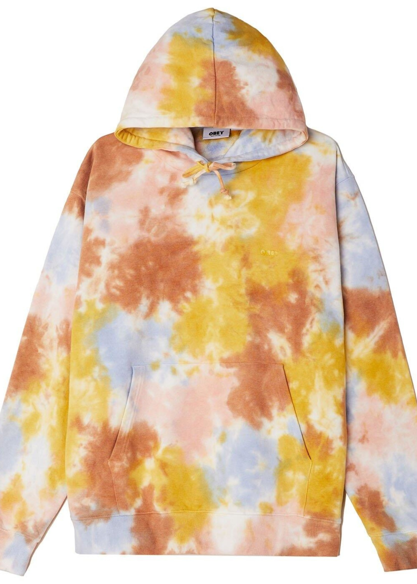 obey obey mini bold recycled tie dye pullover hoodie