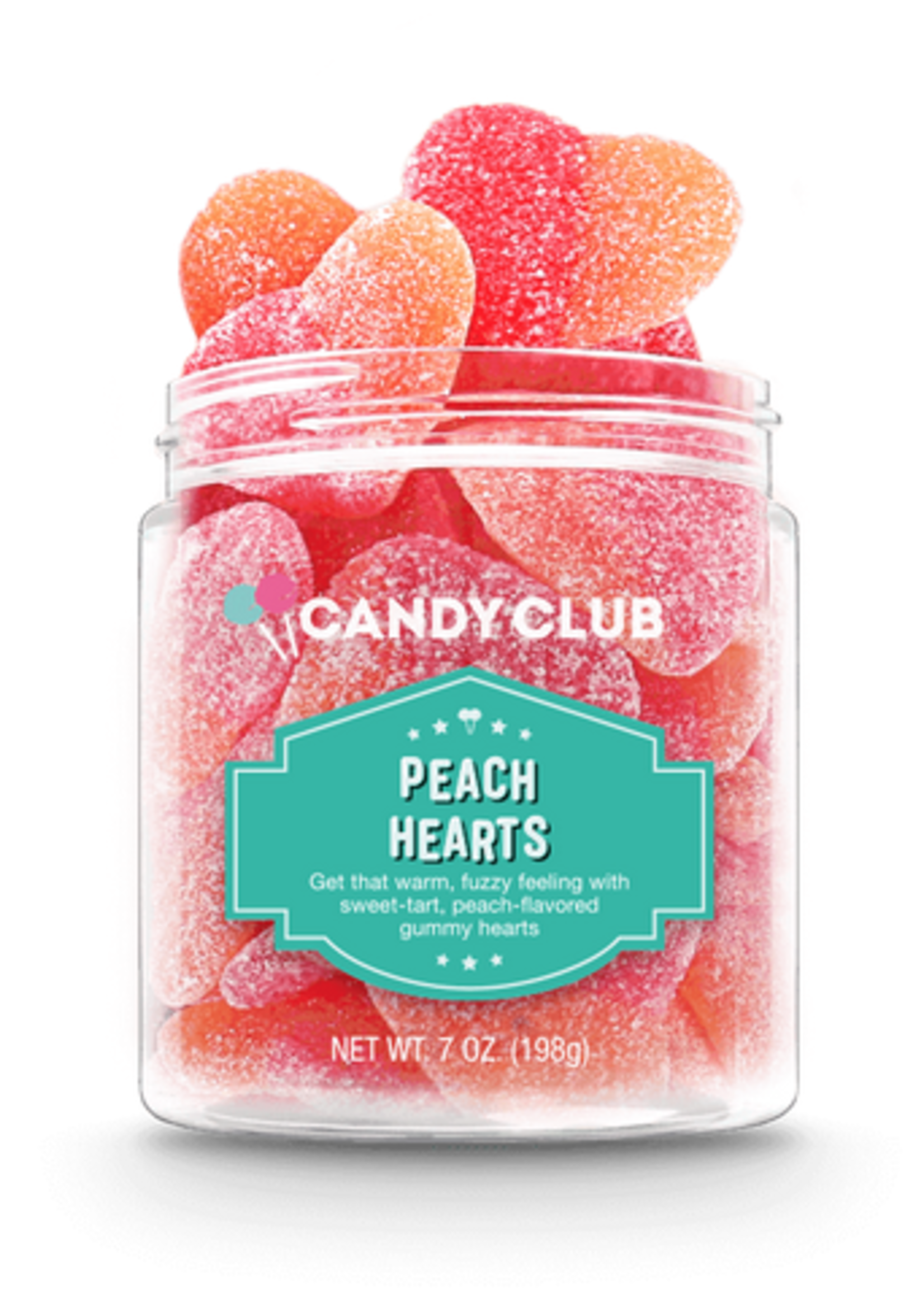 candy club candy club peach hearts