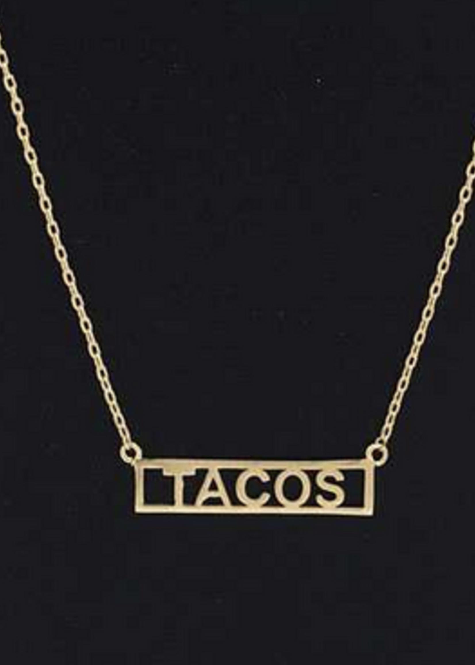 tacos necklace