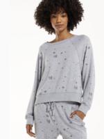 z supply sleep over skull sweatshirt