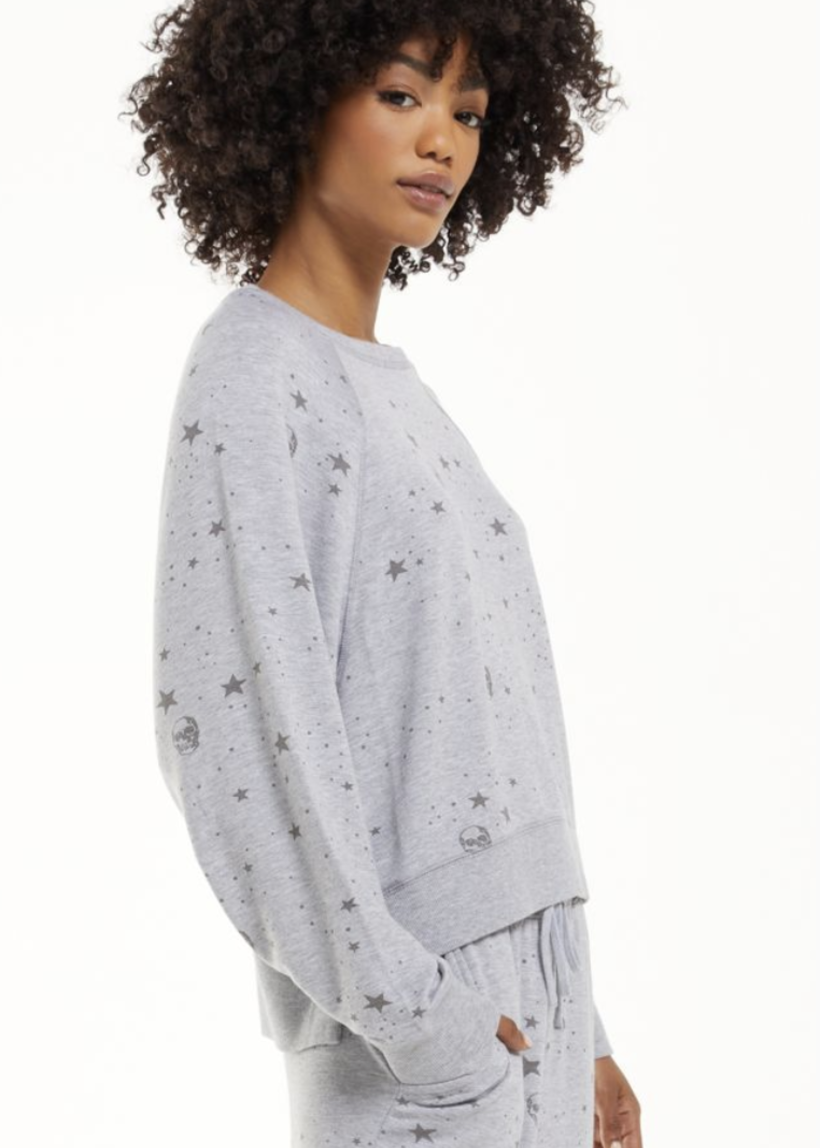 z supply z supply sleep over skull sweatshirt