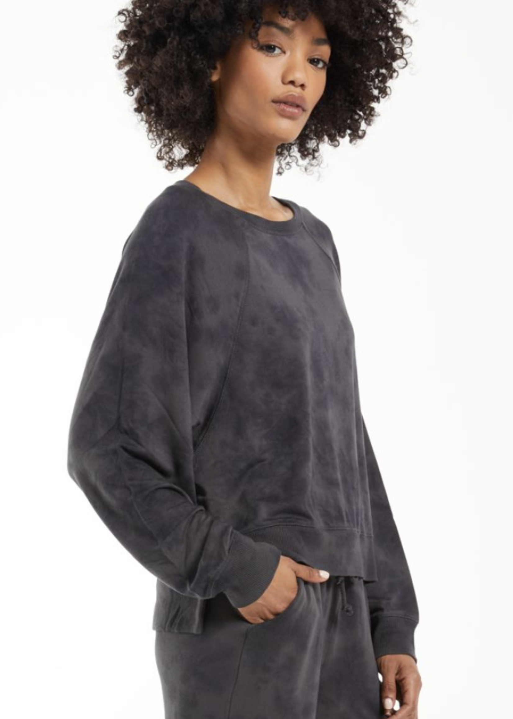 z supply z supply sleep over tie dye sweatshirt