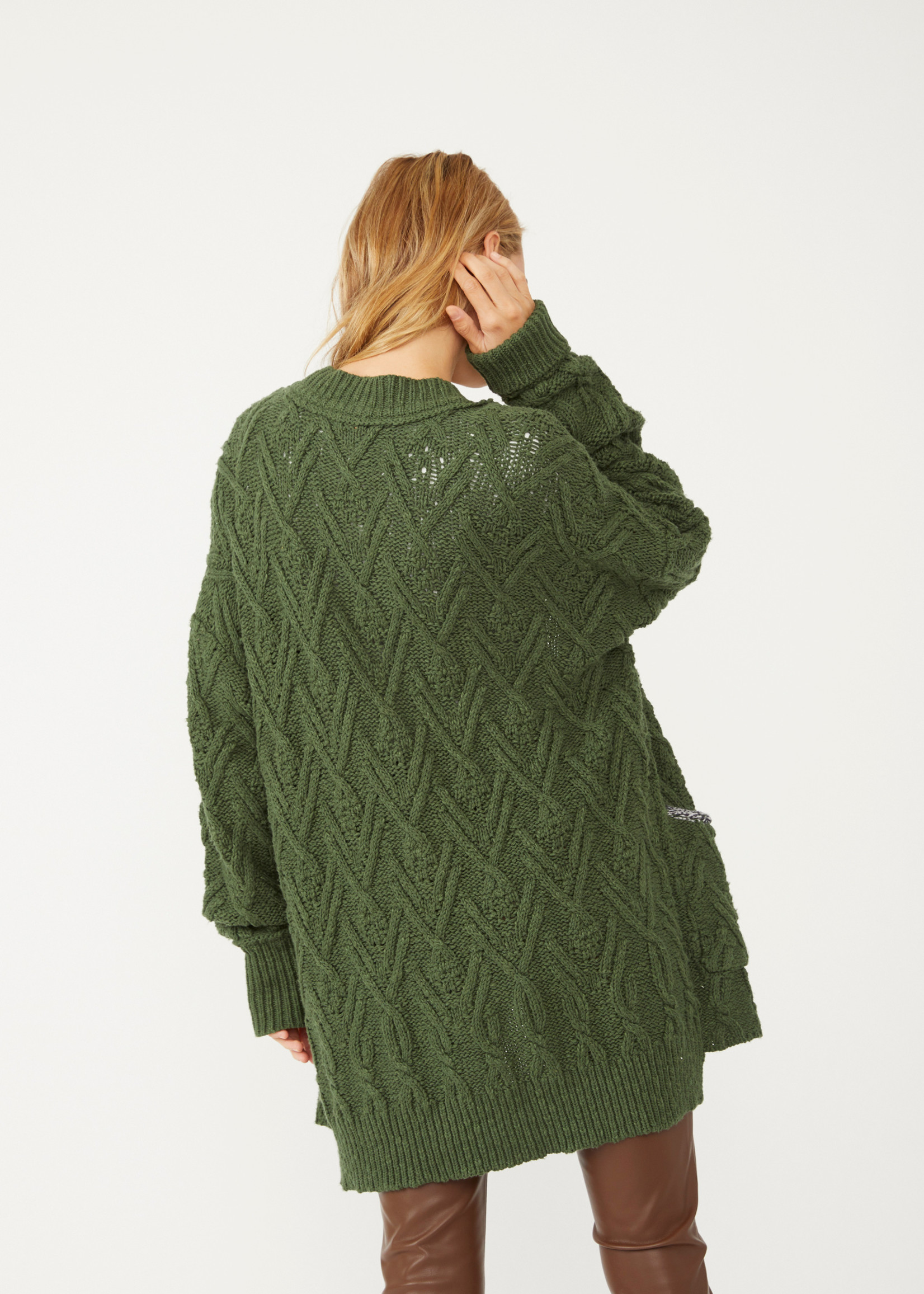 free people free people montana cable cardigan