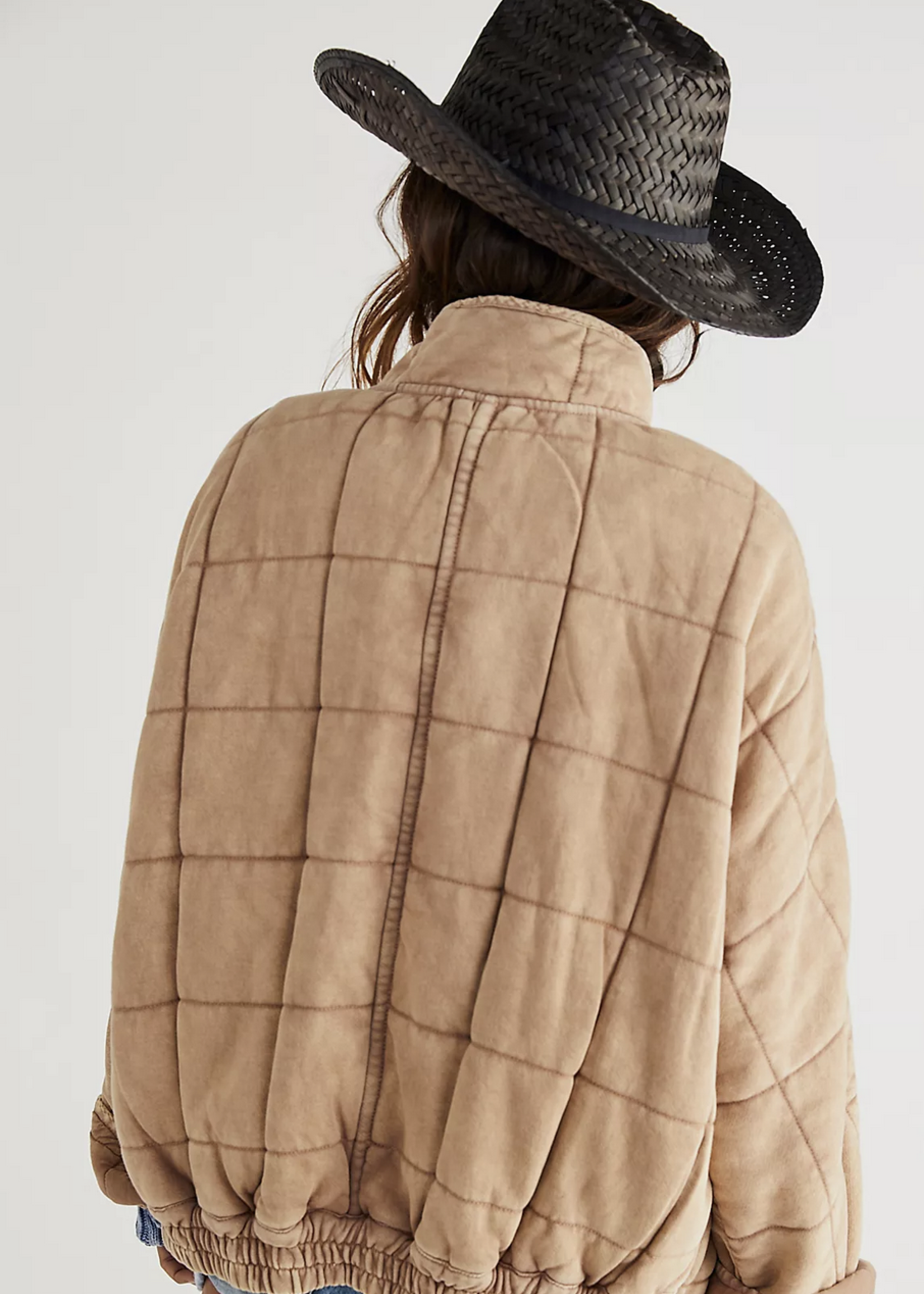 free people free people dolman quilted knit jacket