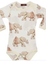 milkbarn tutu elephant l/s one piece