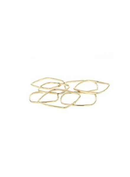 lotus jewelry studio square stacking ring gold
