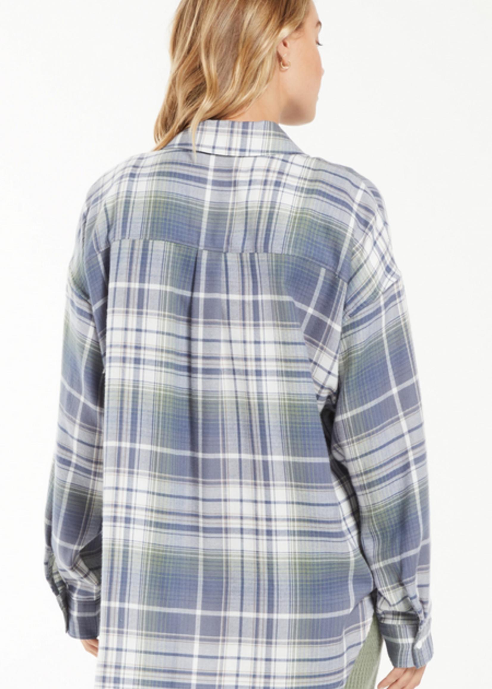z supply z supply road trip plaid flannel shirt
