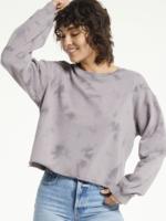 z supply mae cloud wash raw edge sweater