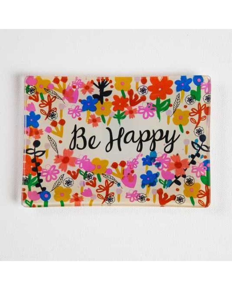 natural life natural life be happy glass tray