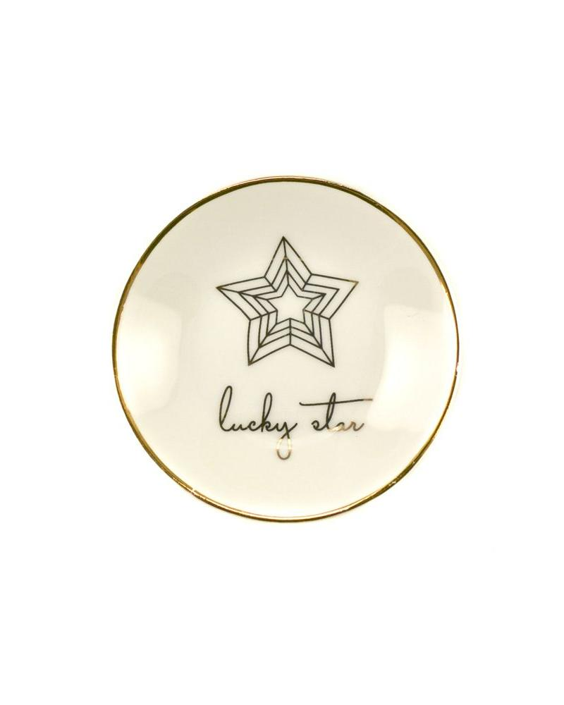 lucky feather lucky star trinket dish
