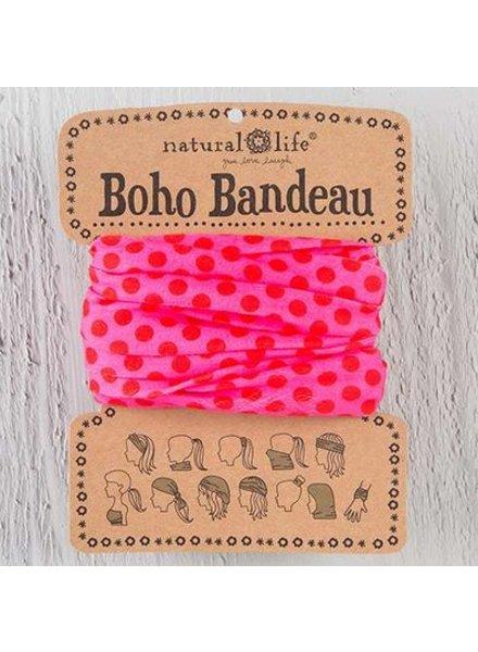 natural life boho bandeau pink polka dot