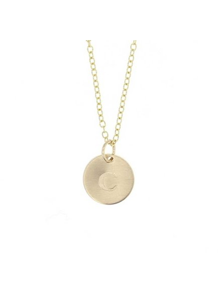 lotus jewelry studio gold token necklace