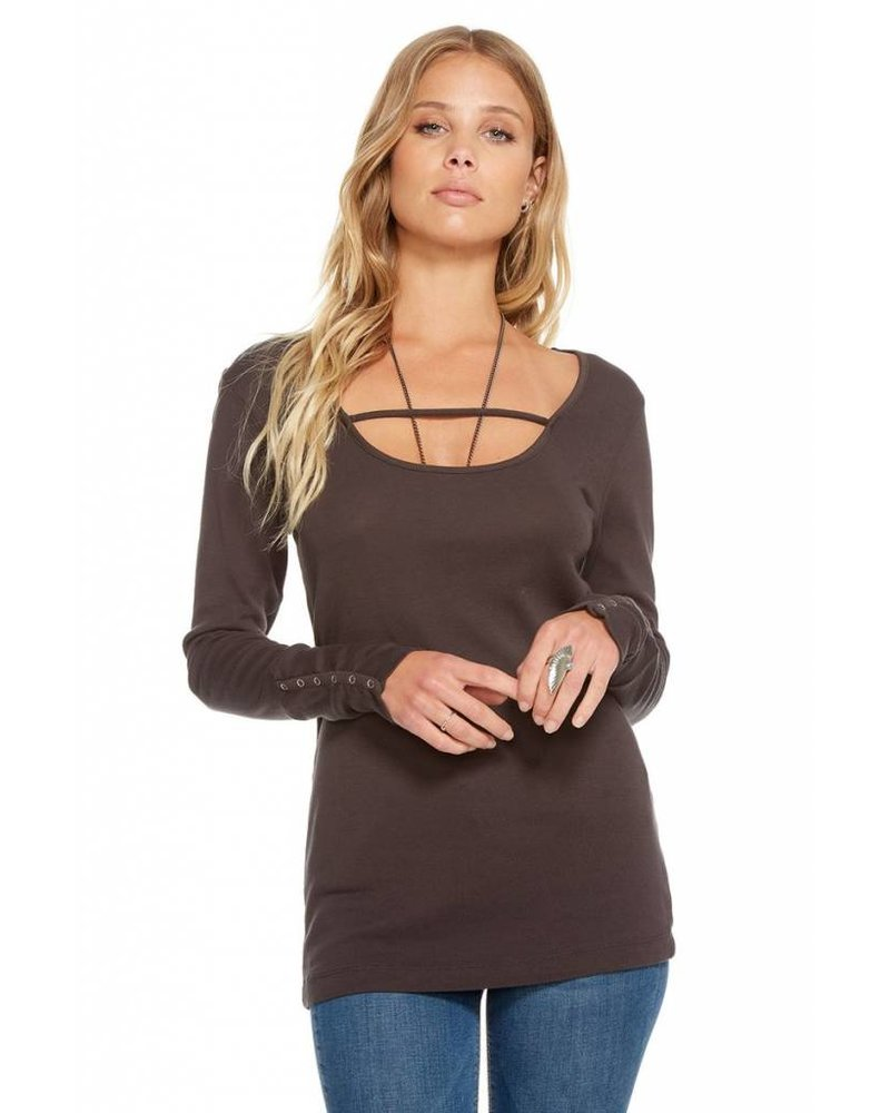 chaser baby rib l/s scoop tee