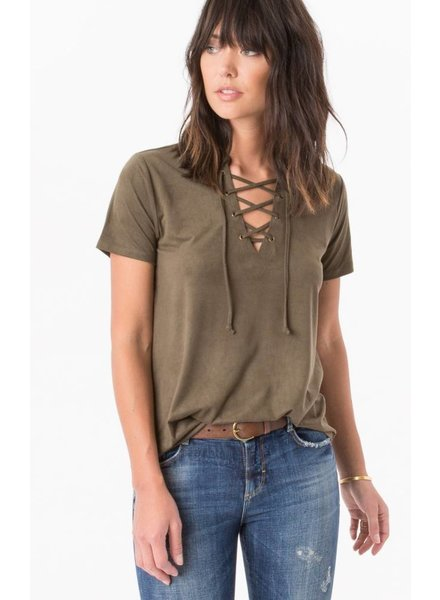 z supply lace up top