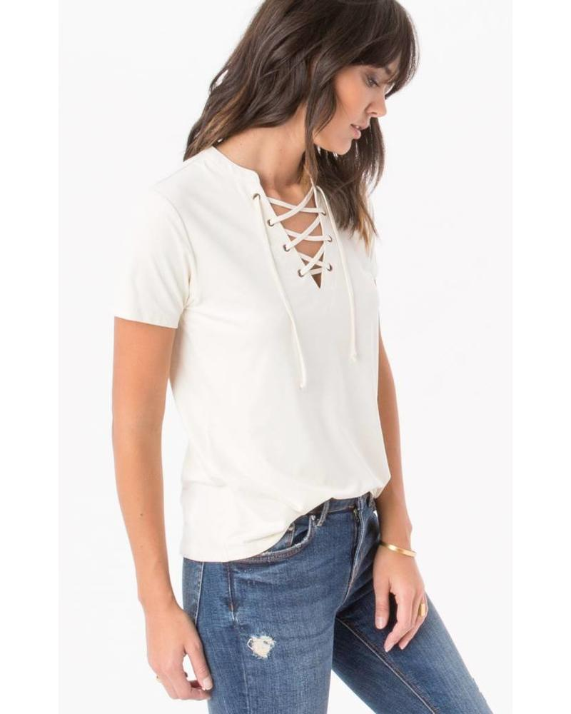 z supply z supply lace up top