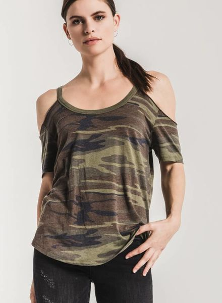 z supply camo cold shoulder tee