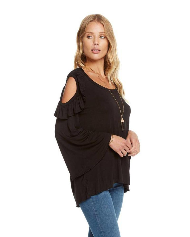 chaser chaser cool jersey bell sleeve top