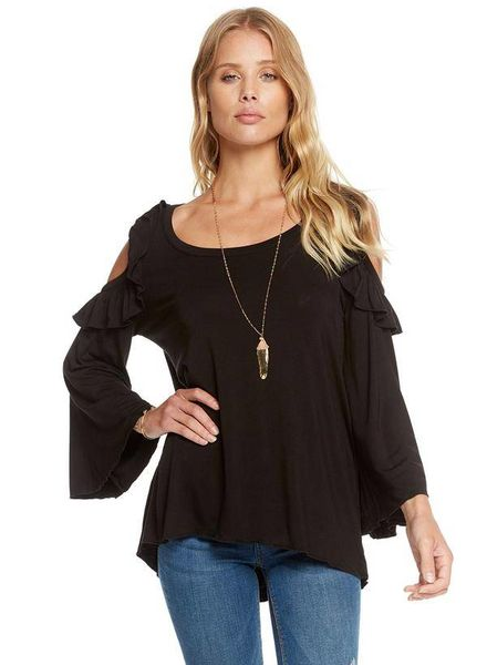 chaser cool jersey bell sleeve top