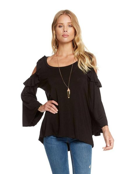 cool jersey bell sleeve top