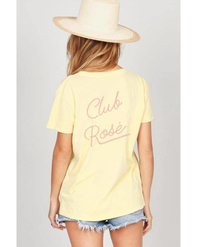 amuse society amuse society club rose tee