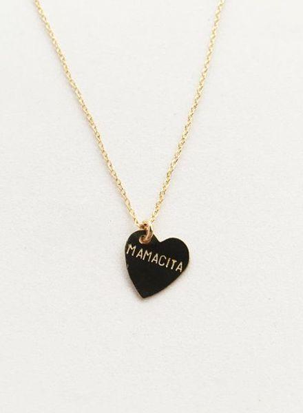 bunnies in la mamacita heart necklace