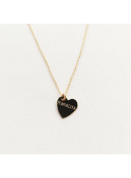 bunnies in la mamacita heart necklace