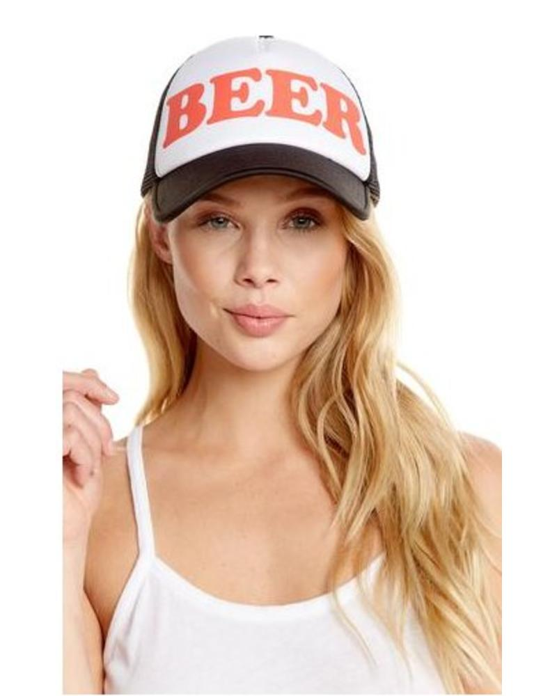 chaser beer trucker hat - mimi   red inc 5a0b19f66