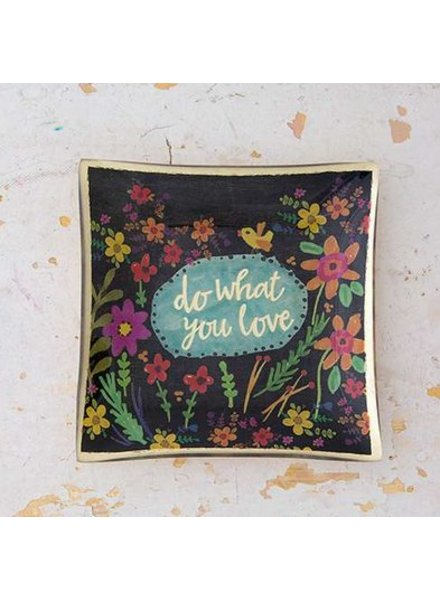 natural life do what you love glass tray