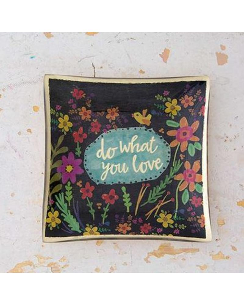 natural life natural life do what you love glass tray