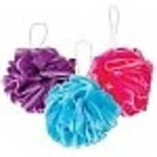 3 Poufs in SPARKLE Bag -Turq/Purple/Fushia