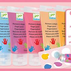 6 Finger Paint Tubes - Sweet