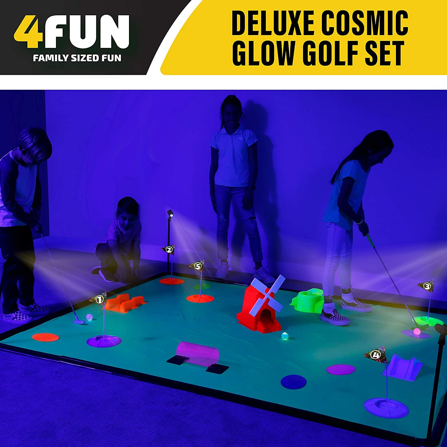 Deluxe Glow Cosmic Mini Golf